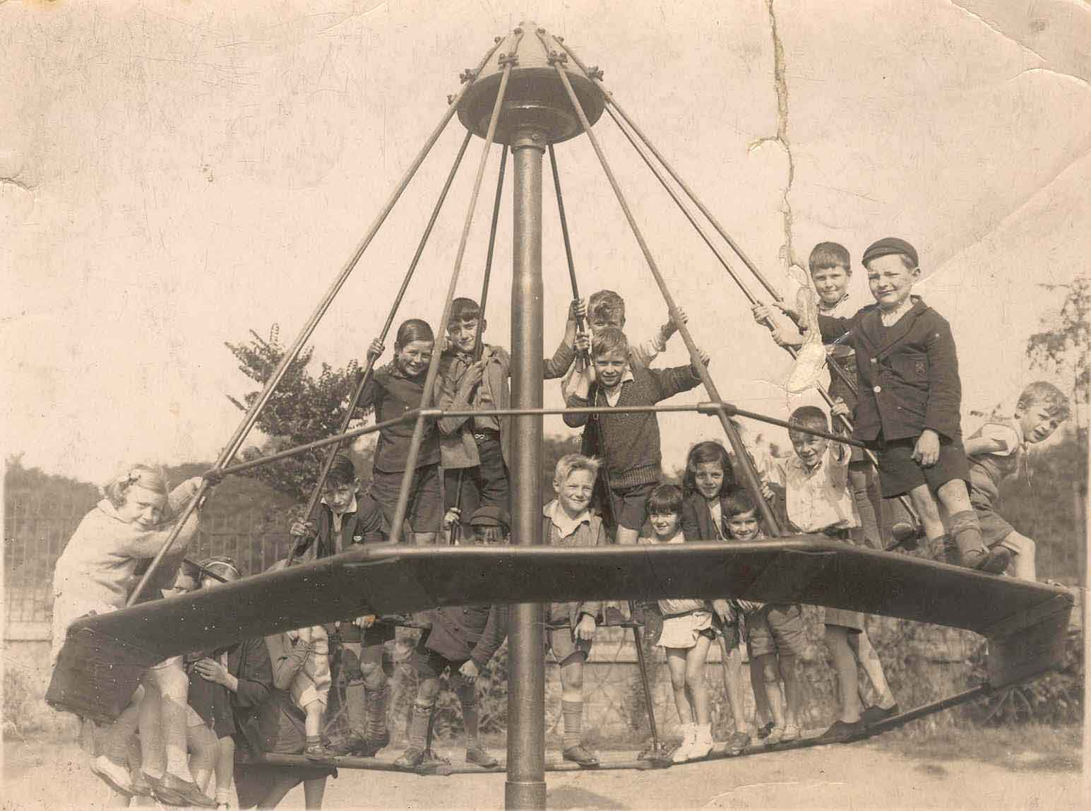 Photograph of children in Scotts Park playground